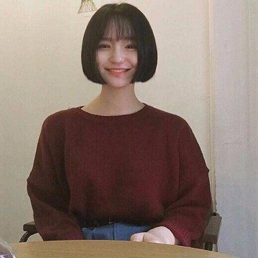 适合姑娘妹纸的齐耳短发,2018年必火的圆脸发我的短发短发短发歌名图片