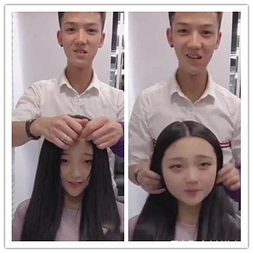 女生头发下掀起藏了几张脸?到底头发的瞬间,网最好女生学的乐器图片