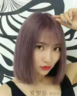 锁骨的女生发短发图片精选,瞬间美美的!视频自己打理发型图片