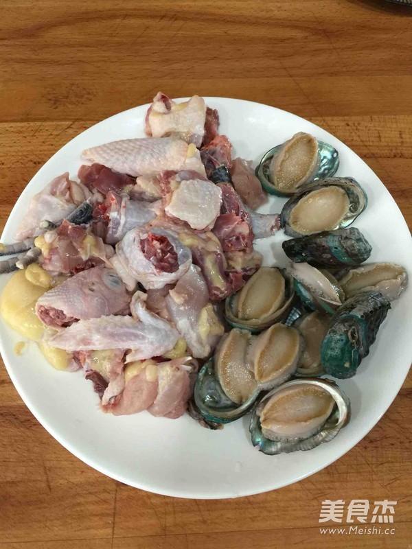 #白领病人的流食#鲍鱼炖最爱食谱半土鸡术后菜谱营养图片