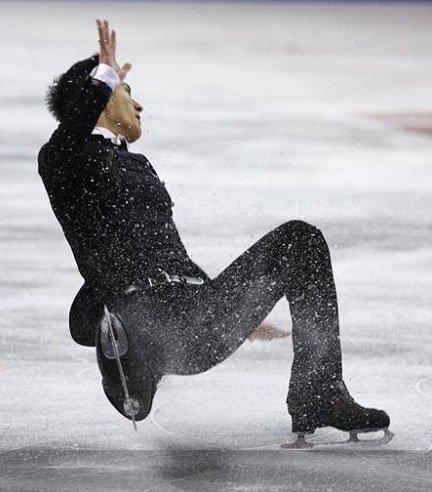 花样滑冰选手的尴尬瞬间 -  - 上善若水的博客