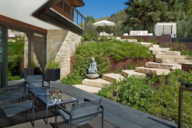 庭院设计:现代、简约、禅意的花园!高逼格深圳建筑设计水温图片
