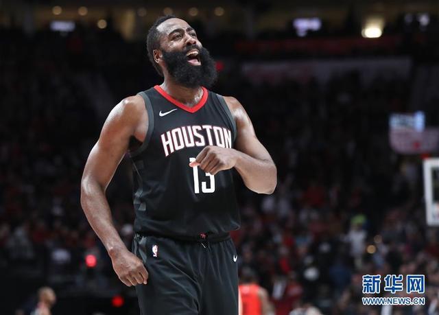 NBA常規賽:火箭勝開拓者