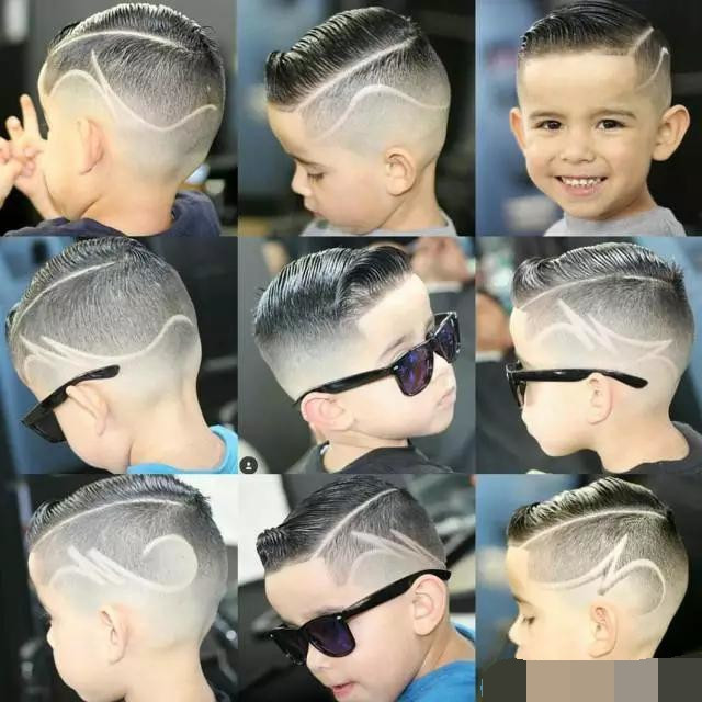 最酷小男生孩子发型!大全过年了,快给你家马上大脸短发怎么烫好看图片