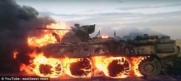 史上最貴行軍餐!俄士兵生火熱飯 不慎燒毀裝甲車