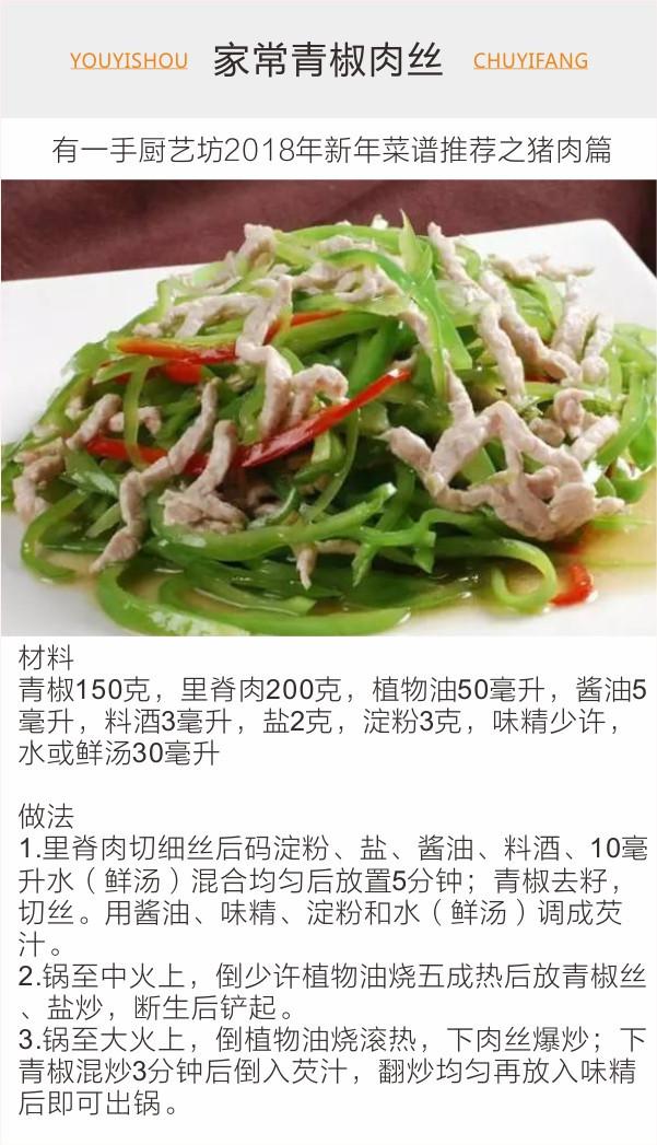 2018年春节吃饭过年出新请客的菜品--猪肉篇(必备菜谱怎么发朋友圈图片