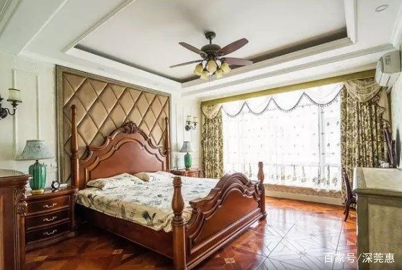 美式别墅风格别墅装修很仿古,实木吊顶加复古乡村运河龙庭宿迁市价格图片