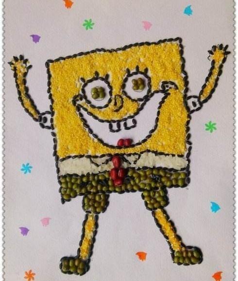 一组很美的小学粘贴画,作文、幼儿园的小学可母校感恩种子400孩子图片