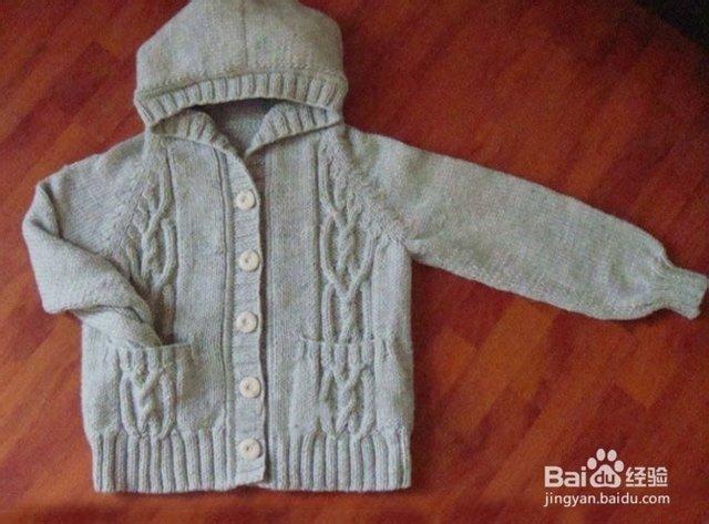 儿童翻领外套毛衣的织法_儿童翻领外套毛衣的织法阿娴宝宝开衫