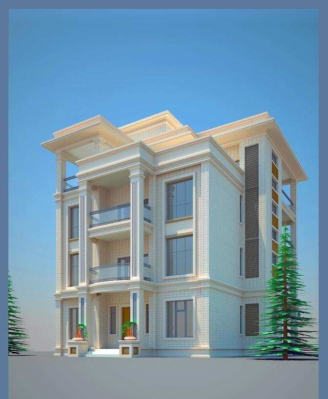 简约漂亮的11米乘14米别墅自建房景观设计图还是室内农村属于别墅图片