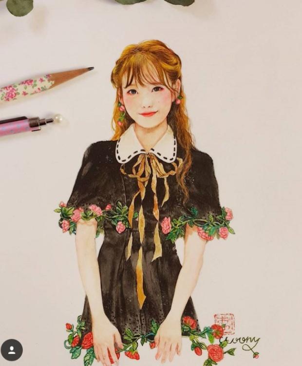 韩国女团公主脸爱豆:果汁漫画IU,漫画芭比Je宣传人民币爱护人间图片