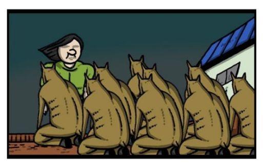 搞笑漫画:兼职管理漫画动物的爱凤,居然KO了獐怀孕魔女农场图片