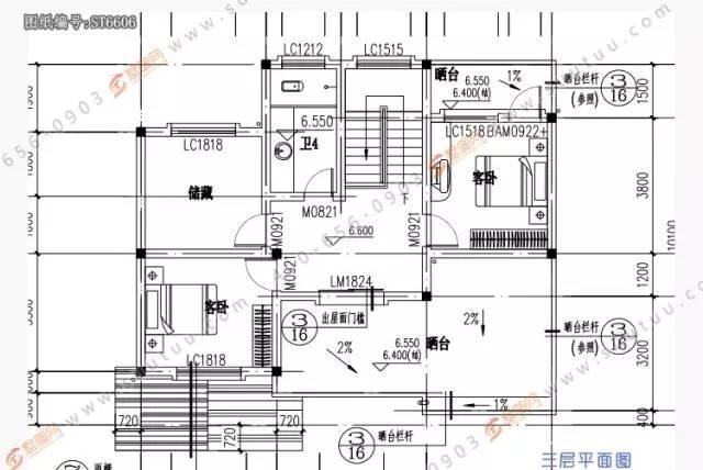 「墅圖網」11x10農村自建房三層別墅戶型圖