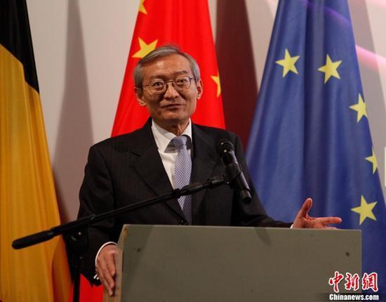 """中國駐歐盟使團團長解讀十九大:中國發展將為世界帶來""""黃金機遇"""""""
