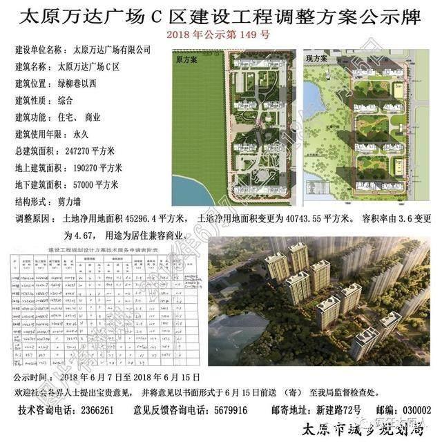 万达容积C区建设工程v容积视频公示,灵犀率调大试炼方案广场图片