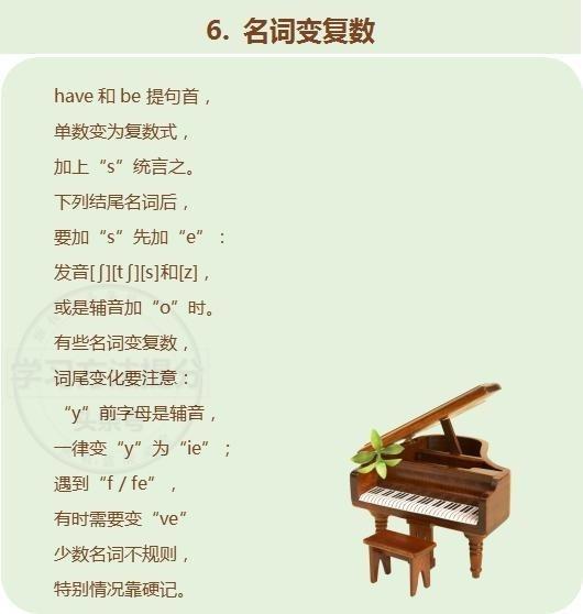 初中英语不用顺口溜,记熟了,v初中语法愁初中七年级壶滨图片