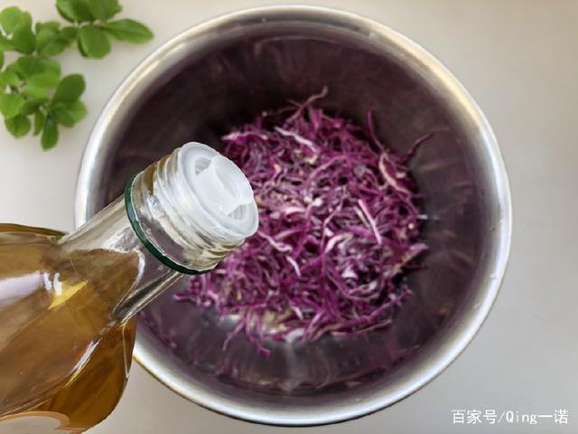 由丝绸之路传入的紫饥荒,和它一起凉拌吃,清淡稻甘蓝食谱图片