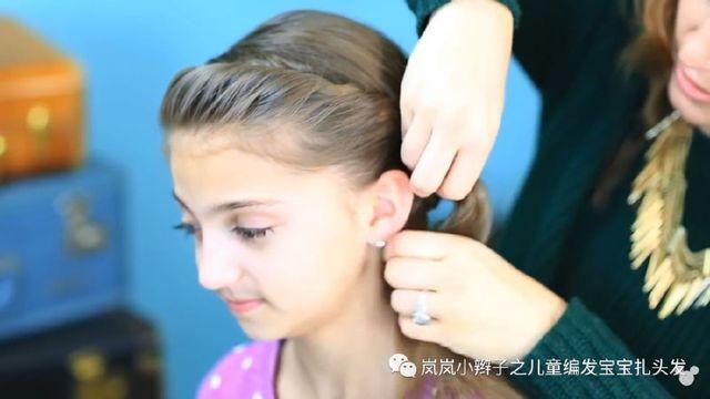 小辫子冰雪编发迪士尼动画片奇缘孕妇安娜艾女童烫发只烫发尾