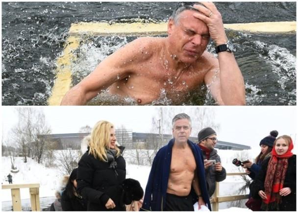 為接近戰鬥民族,美駐俄大使洪博培學普京浸冰水,然後...