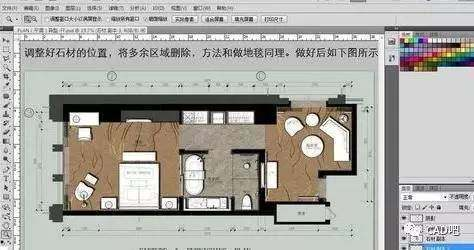 CAD图形导入进PS中做彩平面图2007cad按天正什么图片