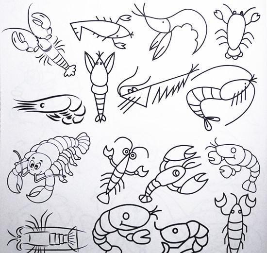 海底動物簡筆畫圖片大全大圖_海洋動物圖片大全圖片