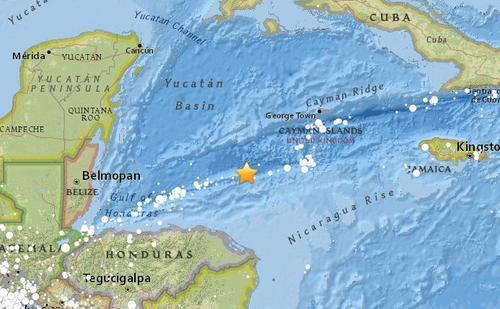 洪都拉斯附近海域發生7.8級地震 可能引發海嘯