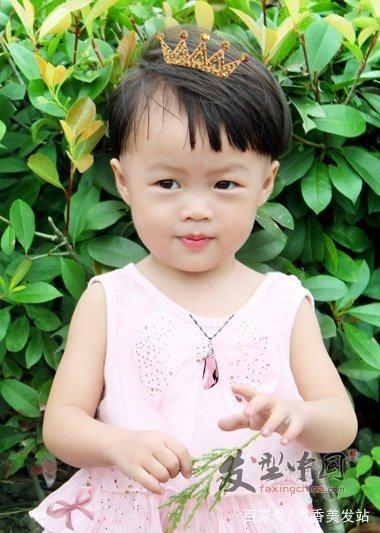 两岁女童女童波波头发型可爱的手法发型设计烫发能用编的宝宝吗图片