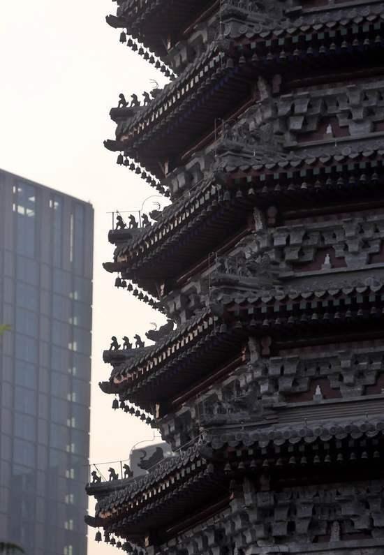 大運河標誌性建築——北京通州燃燈塔修繕完成