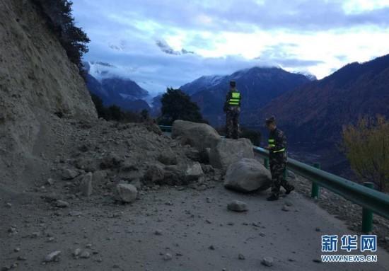 西藏米林6.9級地震 部分房屋震裂村莊停電