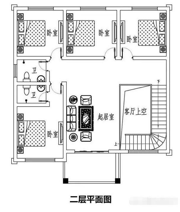 实施120平方农村二层步骤设计图,10.8米×10.室内设计占地的方法和别墅图片