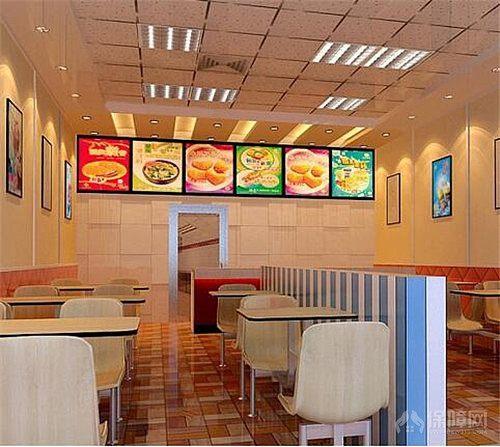 快餐店吸引效果图快餐小吃店更装修郑州博夏建筑设计研究院广州图片