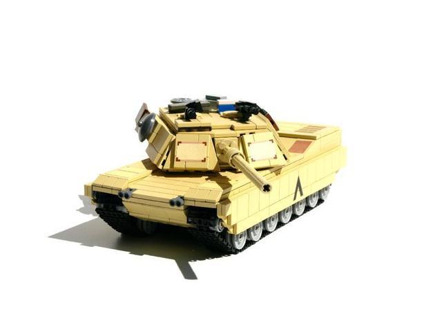 乐高版M1A2主战坦克景观小区v景观图纸免费下载图片