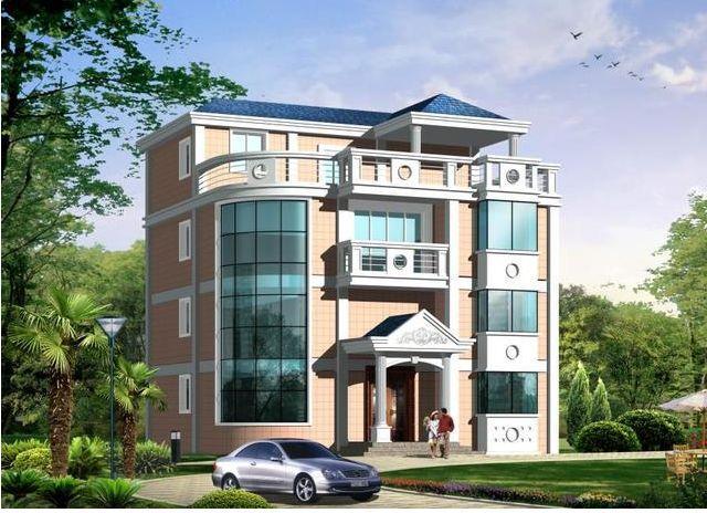 120平米建成四层大农村,框架结构的别墅自建房别墅区鬼楼桂景湾图片