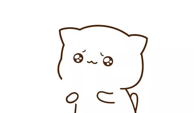 蜜桃猫表情画画法,可爱的简笔一起来画吧!阿福表情包飞虎图片