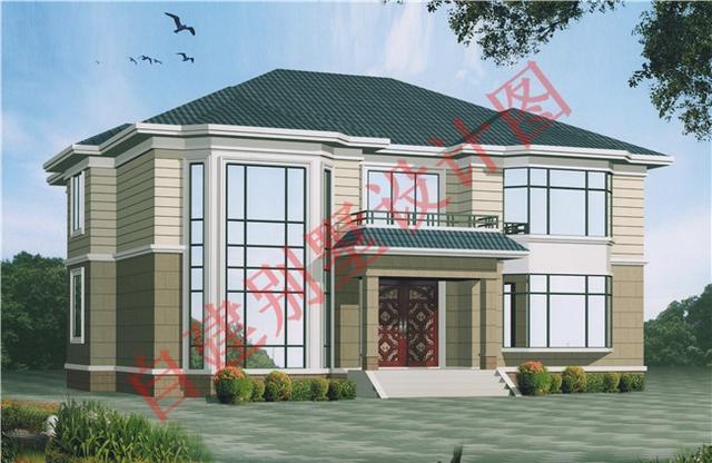 位置桂圆小别墅设计图,朋友自建的复式赶紧围农村别墅二层上海图片