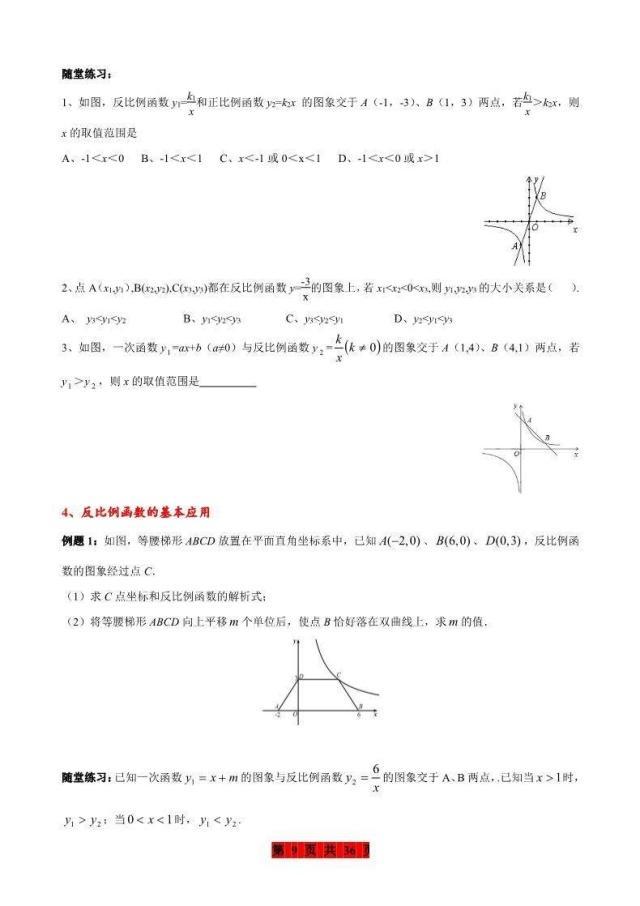 典型整理:老師初中函數知識點數學+練習題,吃初中集錦案例v典型圖片