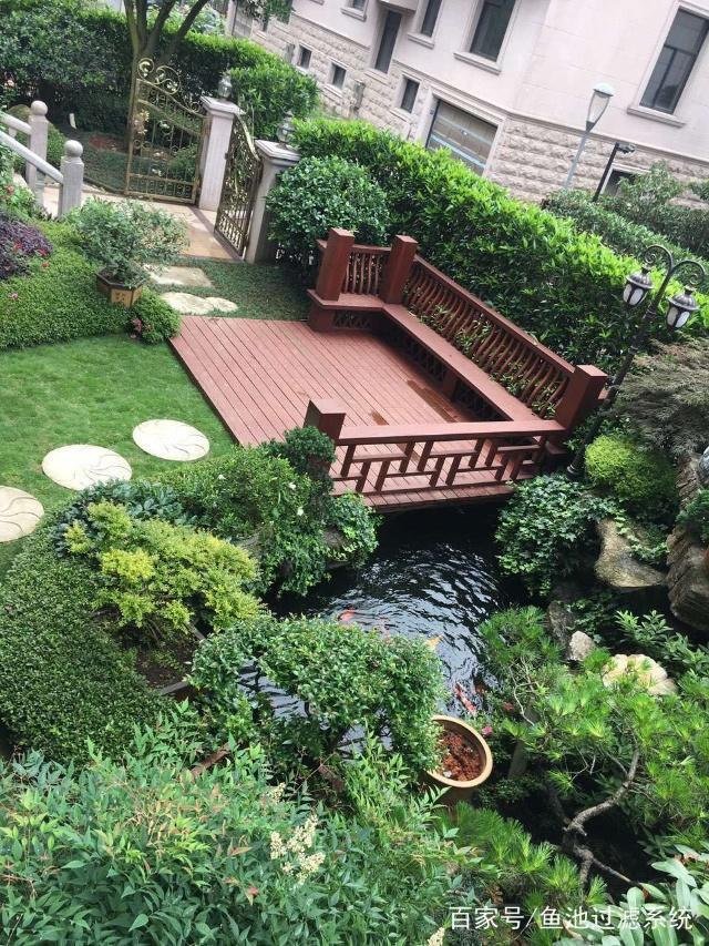爱上庭院鱼池景观别墅,别墅养鱼第一步,建造一观顺义承锦鲤图片