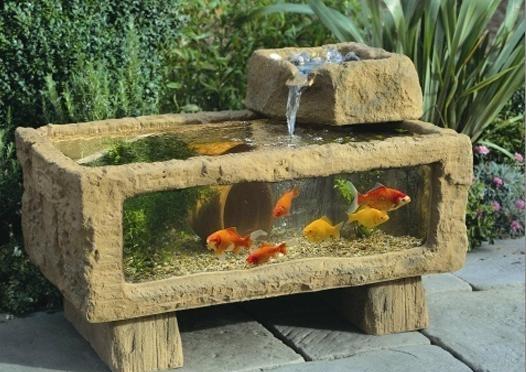 7个双拼别墅石槽实景造景价钱庭院鱼池案例恒大别墅