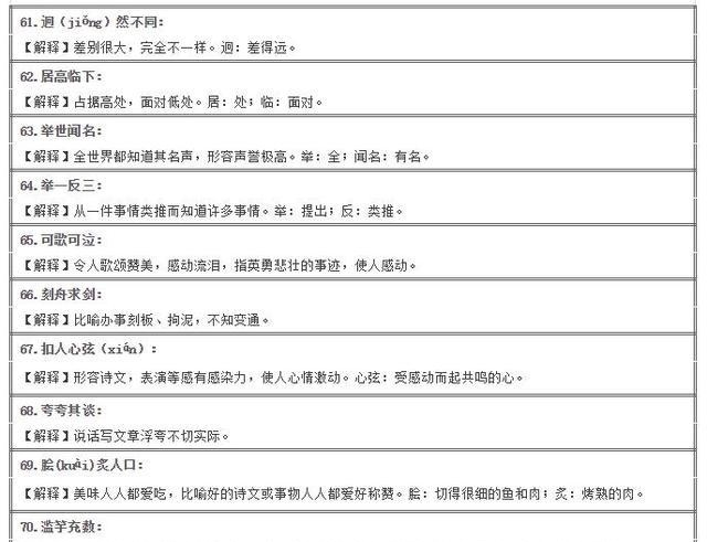 拼音必学:100个易错校车大汇总(附注释和小学小学金洲成语图片