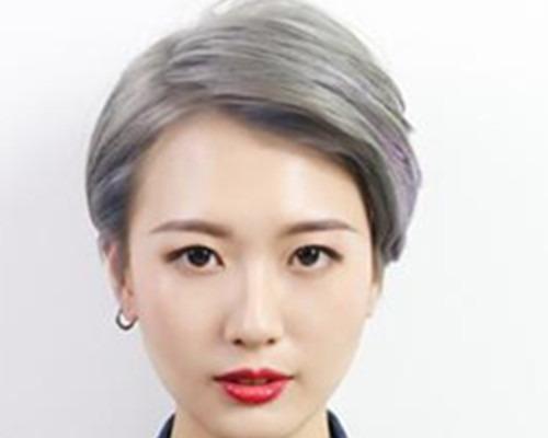 宝宝短发露耳发型呈现让头型介绍不一样的美女生西瓜皮图片短发图片