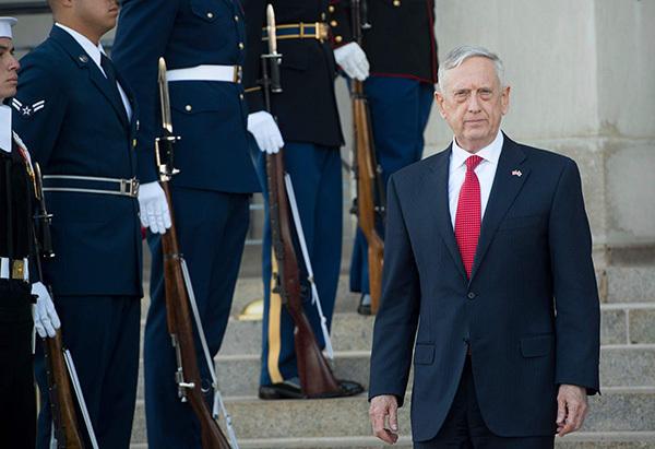美國防部長馬蒂斯將於2018年春訪華 係2014年來首次