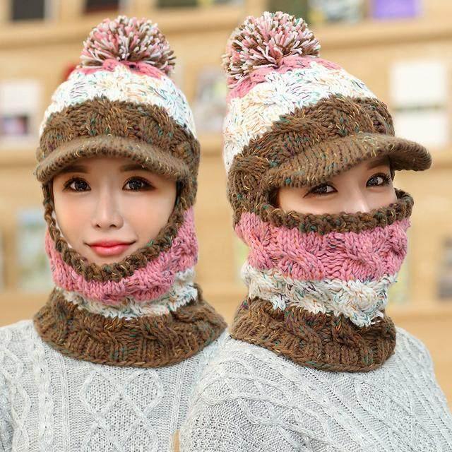 冬天出门帽子口罩围巾一起上,别土了!现在流行