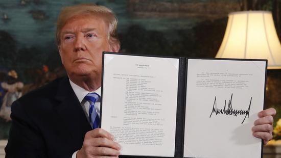 """特朗普:伊朗如果繼續核研究 將面臨""""更大問題"""""""