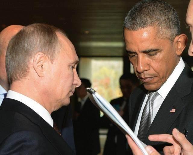 表情帝奥巴马对普京 一脸的不情愿 有意思太有