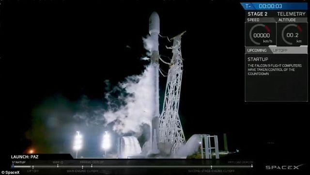 SpaceX發射兩顆測試衛星 欲建12,000顆衛星網